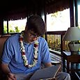 Drew with a Lei